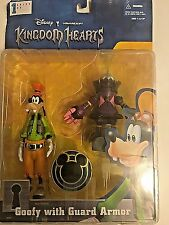 Disney MOC Kingdom Hearts Goofy With Guard Armor Series 1 Action Figure RARE