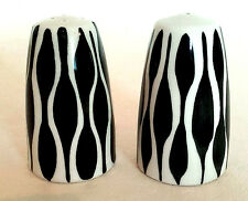 Retro Sandland Midwinter Zambesi Zebrette Zebra Black White Salt Pepper 50s 60s