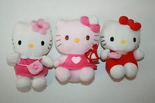 LOT PELUCHE DOUDOU CHAT HELLO KITTY  SAC ARC SANRIO 16 CM
