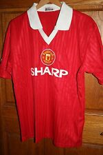 VINTAGE NSO SHARP MANCHESTER UNITED FOOTBALL CLUB SOCCER JERSEY Size 1