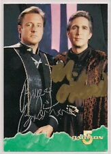 Babylon 5 Signed Card DUAL Auto 1996 B5 Bruce Boxleitner Michael O'Hare v440