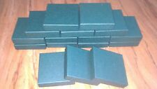 Premium Quality Green COASTER BOXES suitable for crafts, jewellery, gifts 9cm SQ