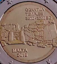 Malta 2 Euro Coin 2016 Commemorative Ggantija Temples New BUNC from Roll