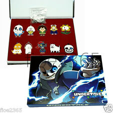 Game Undertale Sans Papyrus Necklace Frisk keychain Pendant Cosplay +Box Gift