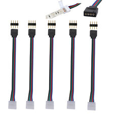 WOW - 5 X 10mm 4 Pin RGB 5050 3528 LED Strips Male PCB Connector Adapter Cable