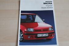 94404) Nissan Micra Zubehör Prospekt 09/1993