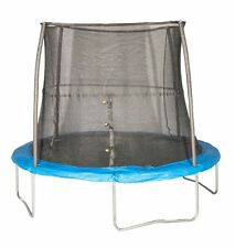 JumpKing 10' Foot ft. Outdoor Trampoline and Safety Net Enclosure Combo - Blue