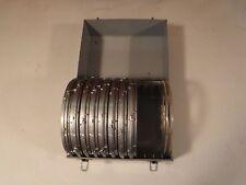 Vintage Brumberger Metal Film Carrying Case 8 Plastic Reels 8mm or Reel to Reel