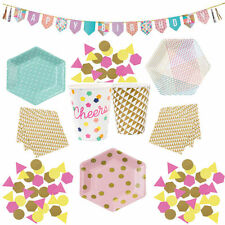 Girls Boutique Happy 18th, 21st, 30th Birthday Bundle For 12 Tableware, Supplies