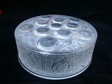 Lovely Signed Lalique Powder bowl lid and base