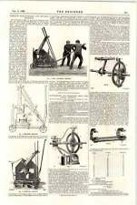 1898 Portable Hand Punching Shearing Machines Torsional Strain Measurement