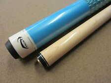 Rhino Blue Pool Cue with Weaved Leatherette Wrap & FREE Shipping