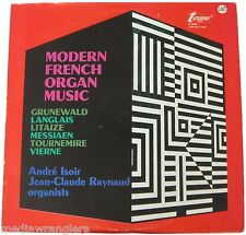 MODERN FRENCH ORGAN MUSIC 60s LP Andre Isoir Jean-Claude Raynaud Mid Century MCM