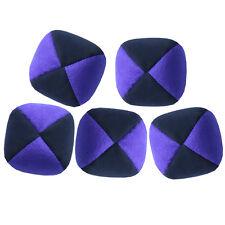 Viola / Nero Set di 5 Pelle di Talpa GIOCHI PALLE-Ecopelle Scamosciata Qualità Pro thuds