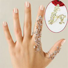 Fashion Women's Multiple Finger Stack Knuckle Band Crystal Ring Set Silver Gift