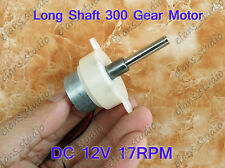 DC 12V 17 RPM Mini 300 motor Long shaft Gear Motor Low Speed Reduction Gearmotor