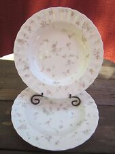 "MIKASA MAXIMA ""French Chintz"" Pattern 9"" Rimmed Soup/Salad Bowl 1988-1996 2 pc."
