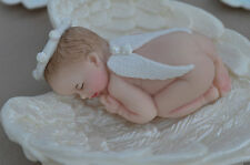 Edible baby angel in angel wings Christening Baptism cake topper decoration