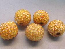 5  Amber Resin Rhinestone 22mm  Indonesia  Beads(G345E30)