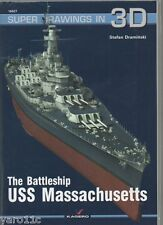The Battleship USS Massachusetts - Super Drawings in 3D - Kagero ENGLISH