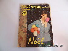MON OUVRAGE MADAME N°135 12/1959 MODE COUTURE TRICOT DECORATION BRODERIE   I32