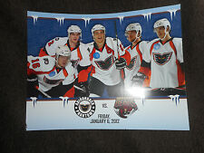 2012 Winter Classic Game, Phantoms vs Bears Scorecard, January 6, 2012 NHL AHL