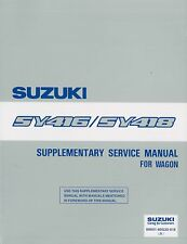 1996 SUZUKI BALENO WAGON WERKSTATTHANDBUCH SERVICE MANUAL SUPPLEMENT