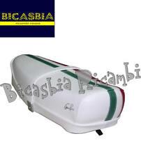 9225 - SELLA SELLONE CON LEVETTA TRICOLORE BIANCA VESPA 50 SPECIAL R L N