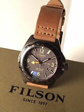 Filson Journeyman GMT 44mm Men's Watch Horween Leather Strap NWTIB - Shinola