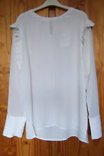 New Sweewë Paris Size L Top Blouse Ivory
