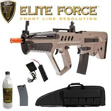 Elite Force IWI Tavor TAR-21 Airsoft Package w/ Rifle Case .20g BBs & Extra Mag