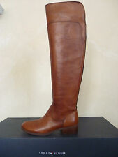 Tommy Hilfiger Georgia Tall Brown Leather Boot Size 6 M