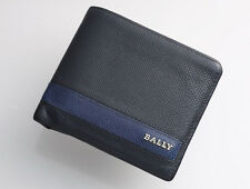 G7001 Authentic BALLY Genuine Leather Bi-Color Bifold Wallet *Defect