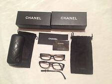 CHANEL 7 items lot: 2 frame glasses for repair or parts +2 boxes 1 case 2 pouch