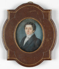 """Portrait of an French gentleman"", miniature, 1820/1830s"