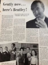 L5-1 Ephemera 1953 Article Gently Its Dick Bentley Bbc Radio Comic