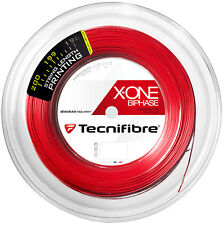 TECNIFIBRE X-one Biphase Squash stringa - 1,18 mm - 200m Reel-ROSSO-Rrp £ 210
