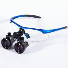 3.5X420mm Dental Surgical Binocular Loupes Optical Glass Blue for Dentist