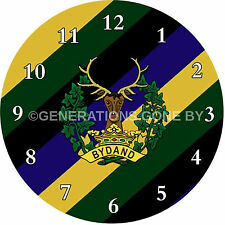 GORDON HIGHLANDERS GLASS WALL CLOCK