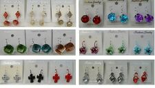 Fashion Jewelry lots 12 pairs Mixed Style French Clip Fashion Earrings  ST68