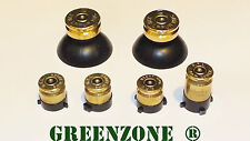 Greenzone ® Xbox One 1 Controller Brass 9mm Bullet Buttons ABXY + Thumbs Mod Kit
