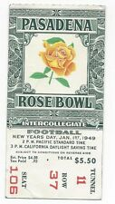 1949 Rose Bowl football ticket stub Northwestern Wildcats California Bears VGEX