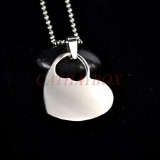50PCS of Wholesale lot Silver Tone Stainless steel Double Heart blank Dog tag