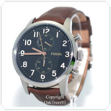 FOSSIL MENS CHRONOGRAPH TOWNSMAN BROWN LEATEHR STRAP WATCH FS4873