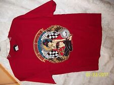 NWOT Harley Davidson Motorcycle Men's MEDIUM RED GIRL WRENCH T-SHIRT SHIRT BUY