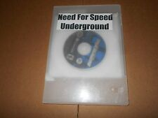 NEED FOR SPEED UNDERGROUND (Nintendo GameCube, 2002) NO BOOK/CASE LIGHT SCRACHES