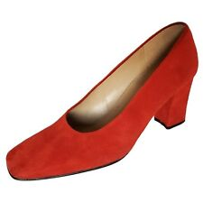 ENZO ANGIOLINI Red Suede Heel Pumps Shoes Womens Size 6