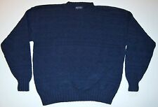 Britches Navy Blue Cotton Sweater Sz XL Extra Large Mens Made in USA Crewneck