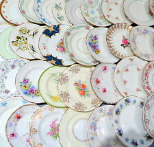 Job Lot of 50 Vintage Mismatched Side Plates - Wedding, Tea Parties, Cafe etc
