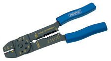 Draper Carbon Steel Crimping Tool 4 Way 215mm - Wire Cutters Strippers DT 13657